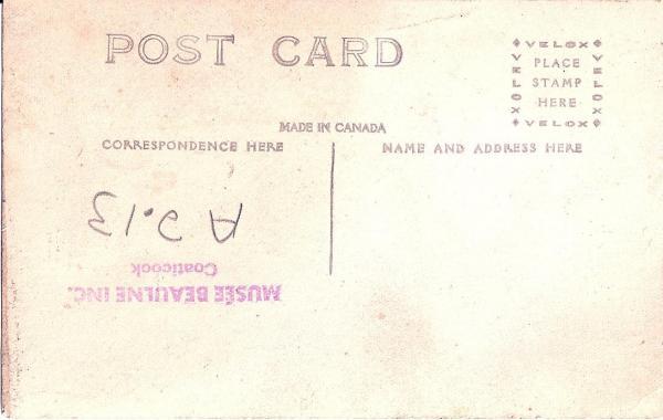 Verso de la carte postale de la rue  Child en 1882