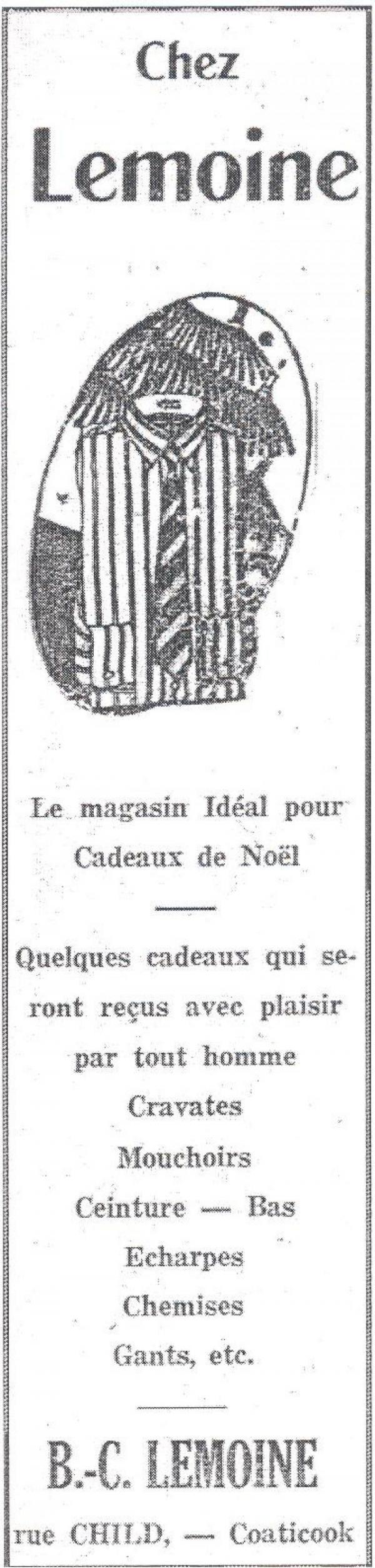 Publicité Chez B.-C. Lemoine