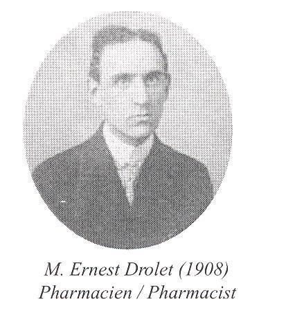 Ernest Drolet, (1908) pharmacien