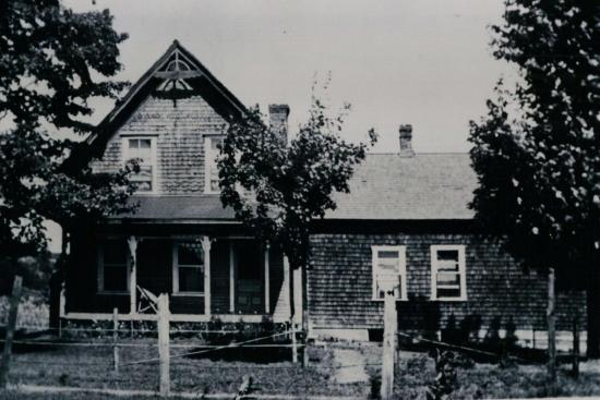 Otis family home before the flood of June 15, 1943.