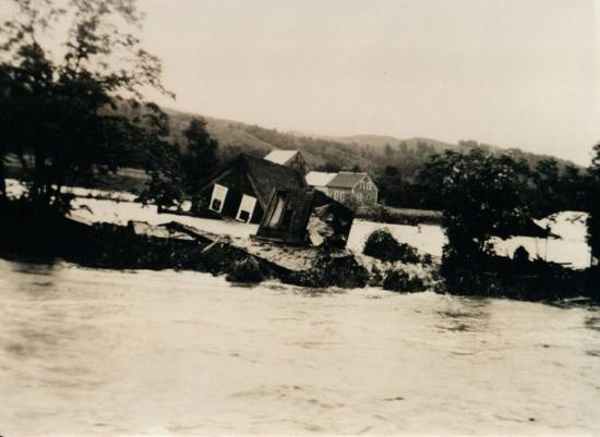 Otis family home washed away during the flood of 15 and 16 June 1943