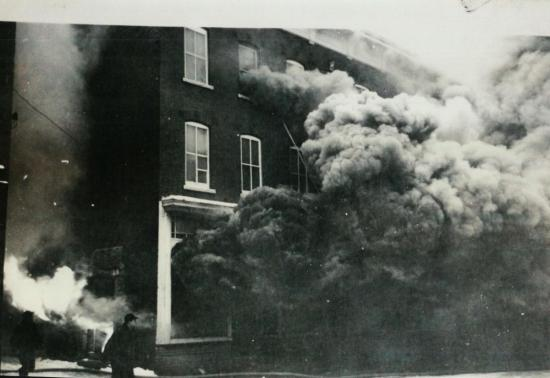 Fire in the hôtel Child January 16, 1949