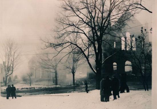 Incendie de l'église St-Jean l'Évangéliste, le 16 janvier 1949
