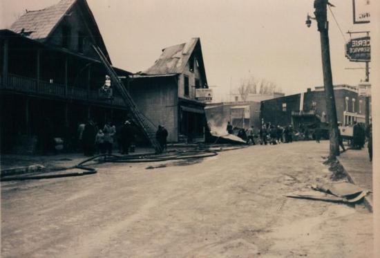 Les dommages causés par l'incendie du 16 janvier 1949