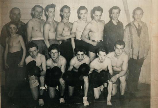 Boxeurs vers 1944-1945