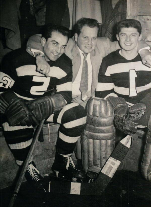 Sur cette photo - Maurice Bernard,  Raymond Coté, Michel Élias
