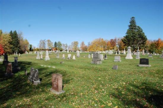 Aménagé en 1870, le Mount Forest Cemetery est le second cimetière protestant de Coaticook. Auparavant, l'enfouissement des corps s'effectuait sur un terrain situé à proximité des rues Merrill et Main Ouest. Par la suite, les corps et les pierres tombales ont été transférés de l'ancien cimetière jusqu'au Mount Forest Cemetery, situé à l'extrémité ouest de la rue Court, dont par exemple la modeste stèle funéraire de Marcus Child, décédé le 6 mars 1859.