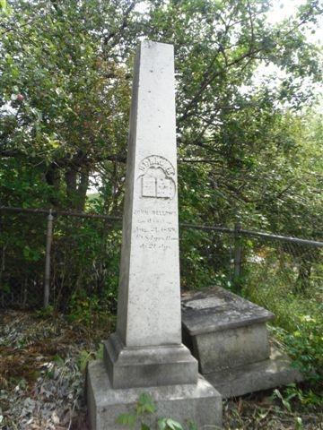 Son fils, John Bellow Jr, né aussi à Dalton, Massachusetts, le 31 août 1784 fut un homme influent dans le canton de Barnston.  Déménagé dans la région en 1801, à l'âge de 17 ans, avec ses parents, il achète sa première terre en 1806 : le lot 14 du rang IV, situé près de Barnston Corner.  Marié d'abord à Sarah Sutton dont il n'eut aucun enfant, il devient veuf en septembre 1843.  Quelques mois plus tard, il épousa Ruth Wadleigh, elle-même veuve de Thomas Paradis.  Le couple de John et Sara aura u