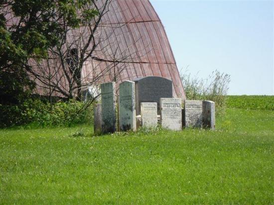 Les stèles que l'on peut encore apercevoir aujourd'hui ont été déplacées de leur lieu d'origine pour être regroupées sur une dalle en béton.  Celles-ci réunissent principalement des membres de la famille Cleveland, tel que Vester et sa femme Relief, ainsi que quelques-uns de leurs enfants, petits-enfants, gendres, brus et autres.  La plus ancienne inhumation inscrite sur les stèles est celle de Ruth Cleveland, décédée en 1829, inscrite sur le même monument que ses parents Vester et Relief, eux-m