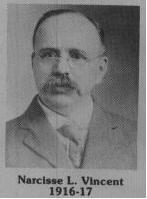 Narcisse L. Vincent fut maire de Coaticook en 1916-1917