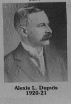 Alexis L. Dupuis fut maire de Coaticook en 1920-1921