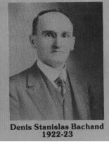 Denis Stanislas Bachand fut maire de Coaticook en 1922-1923