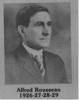 Alfred Rousseau fut maire de Coaticook en 1926-1929