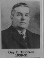 Guy C. Tillitson fut maire de Coaticook en 1930-1931