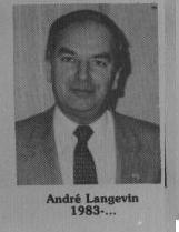 André Langevin fut maire de Coaticook en 1983-2005 Il cumule ainsi 22ans en tant que Maire de Coaticook soit de 1983 à 2005.