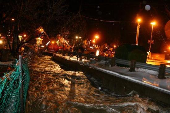 Photo lors de l'inondation du 11 janvier 2014