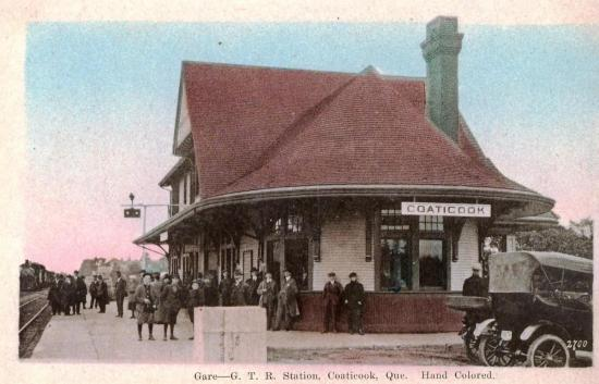 Carte postale de la gare de Coaticook