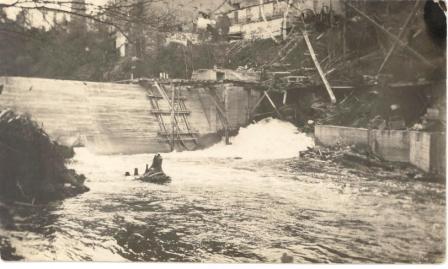 Construction du barrage de la Belding vers 1926- 1927
