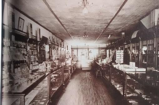 Intérieur du Medecal Hall, bâtiment érigé en 1841 et devait servir de pharmacie jusqu'en 1947.