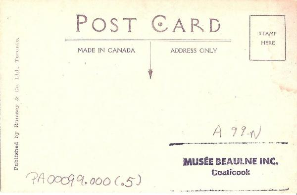Verso de la carte postale du Marché Central.